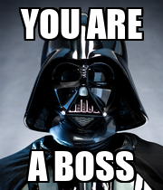 YOU ARE A BOSS - Personalised Poster large