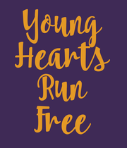 Young Hearts Run Free - Personalised Large Wall Decal