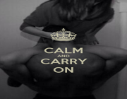 CALM AND CARRY ON - Personalised Poster A1 size
