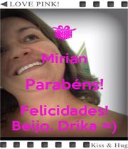Mirian Parabéns! Felicidades! Beijo, Drika =) - Personalised Poster A4 size
