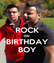 ROCK ON  BIRTHDAY BOY - Personalised Poster A1 size
