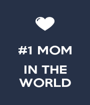 #1 MOM  IN THE WORLD - Personalised Poster A4 size