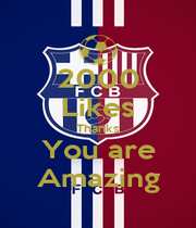 2000 Likes Thanks You are Amazing - Personalised Poster A1 size