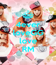 4ever loveGG AND love RM - Personalised Poster A1 size