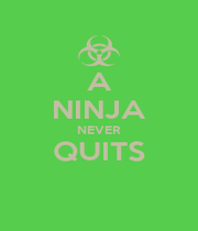 A NINJA NEVER QUITS  - Personalised Poster A1 size