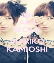 AKB WOTA AND MARIKO KAMIOSHI - Personalised Poster A1 size