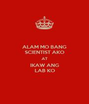 ALAM MO BANG SCIENTIST AKO AT IKAW ANG LAB KO - Personalised Poster A1 size