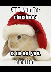 All I want for christmas is no not you, a carrot. - Personalised Poster A4 size