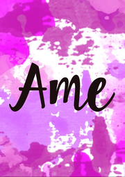 Ame - Personalised Poster A1 size