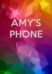 AMY'S PHONE    - Personalised Poster A4 size