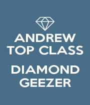 ANDREW TOP CLASS  DIAMOND GEEZER - Personalised Poster A4 size