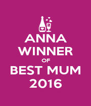 ANNA WINNER OF BEST MUM 2016 - Personalised Poster A1 size