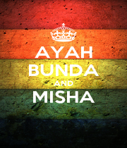 AYAH BUNDA AND MISHA  - Personalised Poster A1 size