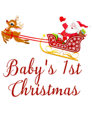 Baby's 1st Christmas  - Personalised Poster A4 size
