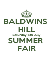 BALDWINS  HILL Saturday 6th July SUMMER  FAIR - Personalised Poster A1 size