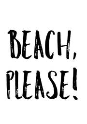 Beach, Please! - Personalised Poster A4 size
