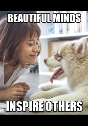 BEAUTIFUL MINDS INSPIRE OTHERS - Personalised Poster A4 size