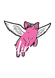 Believe in  flying pigs - Personalised Poster A4 size