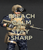 BREACH CALM AND STAY  SHARP - Personalised Poster A1 size
