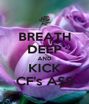 BREATH DEEP AND KICK CF's ASS - Personalised Poster A1 size