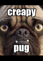 creapy pug - Personalised Poster A1 size