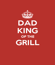 DAD KING OF THE GRILL  - Personalised Poster A4 size