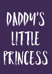 Daddy's Little Princess - Personalised Poster A4 size