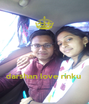 darshan love rinku  - Personalised Poster A1 size