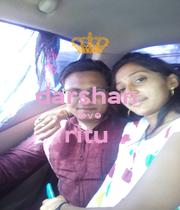darshan  love  ritu   - Personalised Poster A1 size