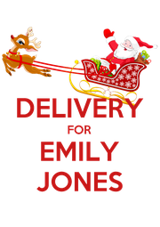 DELIVERY FOR EMILY JONES - Personalised Poster A1 size