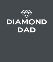 DIAMOND DAD    - Personalised Poster A4 size