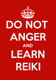 DO NOT  ANGER AND LEARN REIKI - Personalised Poster A1 size