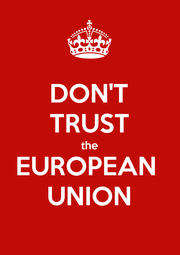 DON'T TRUST the EUROPEAN  UNION - Personalised Poster A1 size
