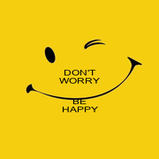 DON'T WORRY  BE HAPPY - Personalised Poster A4 size