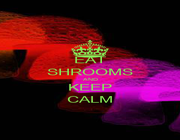 EAT SHROOMS AND KEEP CALM - Personalised Poster A1 size