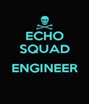ECHO SQUAD  ENGINEER  - Personalised Poster A1 size