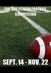 FANTASY FITNESS FOOTBALL COMPETITION SEPT. 14 - NOV. 22 - Personalised Poster A1 size
