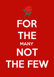 FOR THE MANY NOT THE FEW - Personalised Poster A1 size