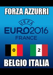 FORZA AZZURRI BELGIO ITALIA - Personalised Poster A4 size