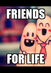 FRIENDS FOR LIFE - Personalised Poster A4 size