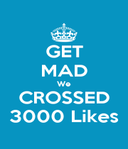 GET MAD We CROSSED 3000 Likes - Personalised Poster A4 size