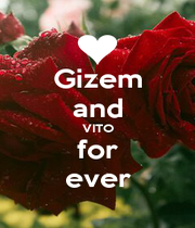 Gizem and VITO for ever - Personalised Poster A1 size