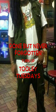 GONE BUT NEVER FORGOTTEN TURN UP TOOLEY TUESDAYS - Personalised Poster A4 size