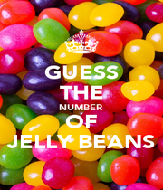 GUESS THE NUMBER  OF JELLY BEANS - Personalised Poster A1 size