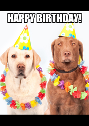 HAPPY BIRTHDAY!  - Personalised Poster A4 size