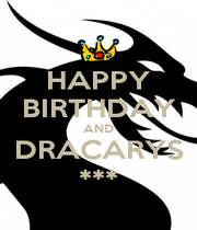 HAPPY BIRTHDAY AND DRACARYS *** - Personalised Poster A1 size