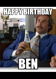 HAPPY BIRTHDAY BEN - Personalised Poster A4 size