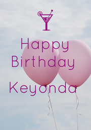 Happy Birthday   Keyonda   - Personalised Poster A4 size