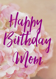Happy  Birthday Mom - Personalised Poster A4 size