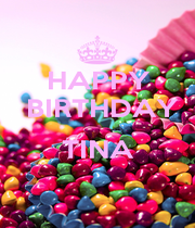 HAPPY   BIRTHDAY  TINA  - Personalised Poster A1 size